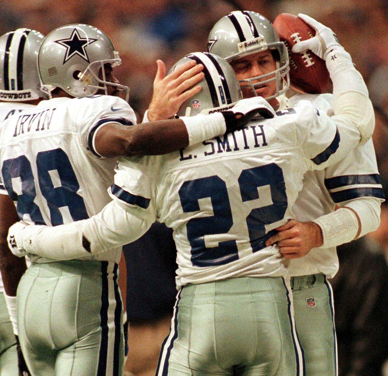 Michael Irvin (88), Emmitt Smith (22) et Troy Aikman